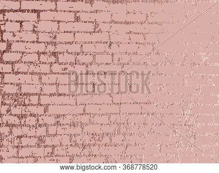Rose Gold Brick Wall. Luxury Gold Background. Gold Metallic Glossy Texture. Rose Quartz Pattern. Tre