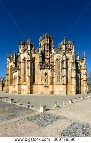 The Magnificent Batalha Monastery, An Original Example Of Late Gothic Architecture (portugal,europe)