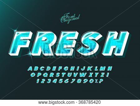Fresh Vector Typeface Bold Style For Logo, Decoration, Party Poster, Book, Greeting Card, Sale Banne