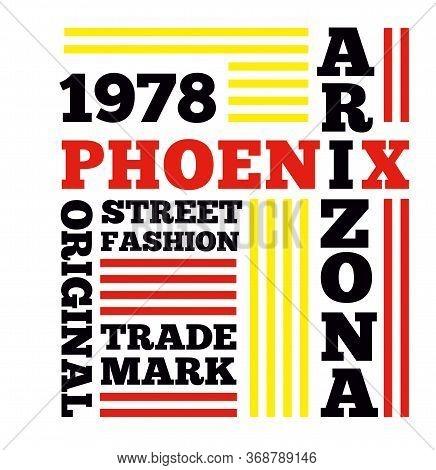 Phoenix Arizona Original Trade Mark Street Fashion 1978 Typographic Poster
