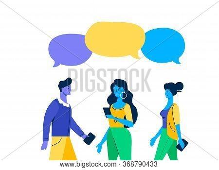 Meeting Familiar Friends Chat Dialogue Bubble Speech