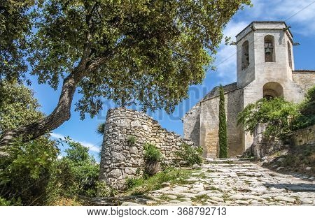 Old Church In The Village Of Oppede-le-vieux, Provence, France