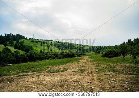 Panoramic View In Gura Humorului, Suceava County, Bucovina, Romania.