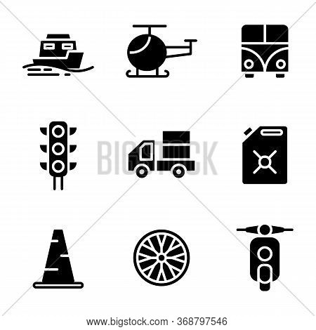 Transportation Icon Set Include Sea, Transport, Vehicle, Ship, Helicopter, Flight, Car, Travel, Traf