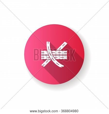 Multi Level Junction Pink Flat Design Long Shadow Glyph Icon. Highway System. Multiple Tarmac Roads.
