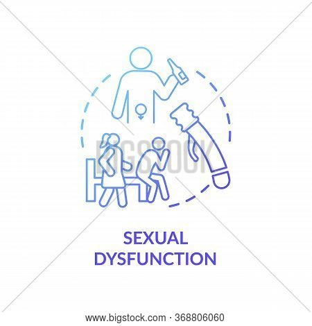 Sexual Dysfunction Concept Icon. Male Health Problem, Medical Issue. Decreased Libido, Erectile Dysf