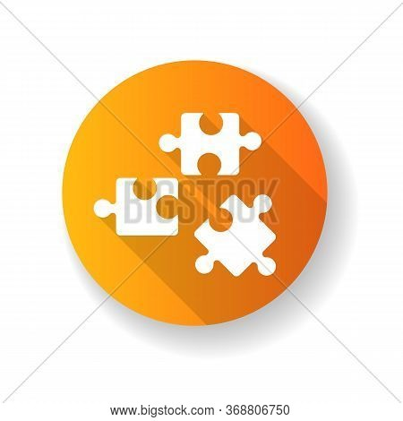 Logic Yellow Flat Design Long Shadow Glyph Icon. Formal Science, Analytical Thinking, Intellectual E