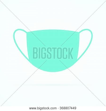 Face Mask Symbol On White Background. Mask Flat Vector Icon Front View.