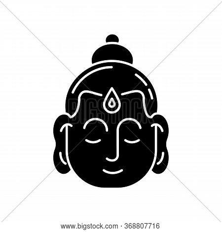 Gautama Buddha Black Glyph Icon. Indian Philosopher. Religious Leader Of Ancient India. Founder Of B
