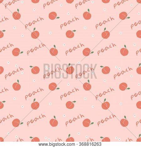 Fresh Peach Fruit Seamless. Fresh Fruit Concept.