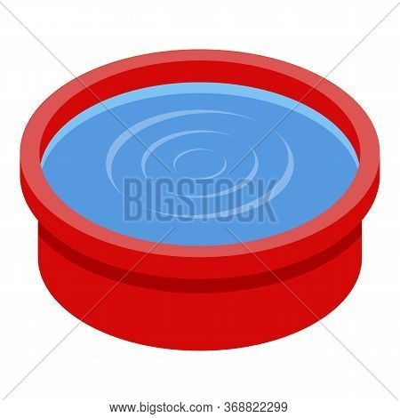 Wash Water Basin Icon. Isometric Of Wash Water Basin Vector Icon For Web Design Isolated On White Ba