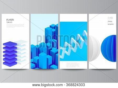 Vector Layout Of Flyer, Banner Design Templates For Website Advertising Design, Vertical Flyer Desig