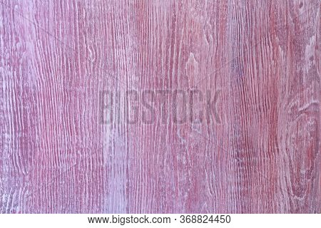 Wooden White Protection On All Background, With Traces Of Clared Red Paint. Natural Textured Timber