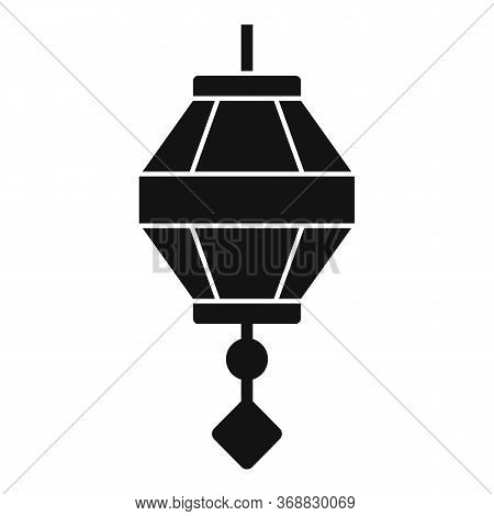 Gold Chinese Lantern Icon. Simple Illustration Of Gold Chinese Lantern Vector Icon For Web Design Is