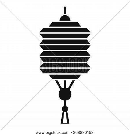 Design Chinese Lantern Icon. Simple Illustration Of Design Chinese Lantern Vector Icon For Web Desig