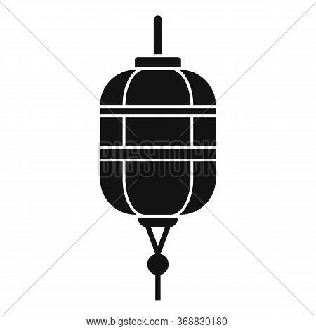 Dragon Chinese Lantern Icon. Simple Illustration Of Dragon Chinese Lantern Vector Icon For Web Desig