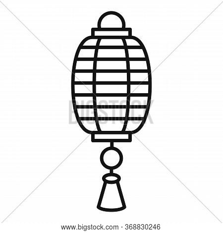 Asian Chinese Lantern Icon. Outline Asian Chinese Lantern Vector Icon For Web Design Isolated On Whi