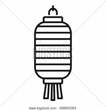 Chinese Lantern Element Icon. Outline Chinese Lantern Element Vector Icon For Web Design Isolated On