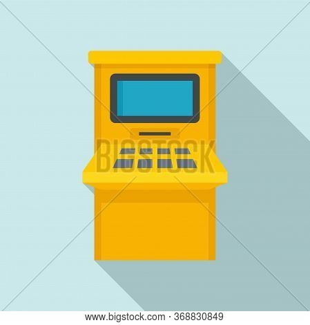 Atm Withdraw Icon. Flat Illustration Of Atm Withdraw Vector Icon For Web Design