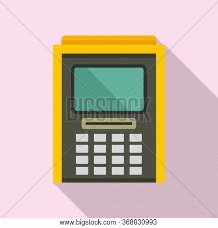 Atm Cash Debit Icon. Flat Illustration Of Atm Cash Debit Vector Icon For Web Design