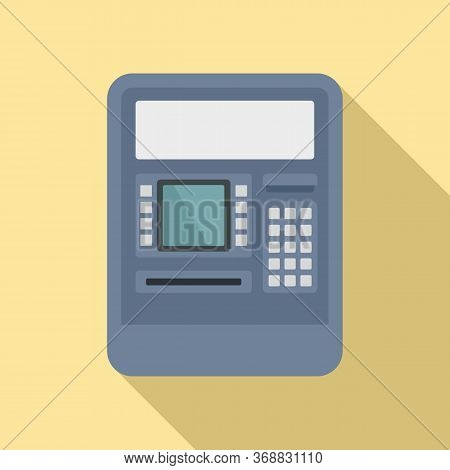 Insert Atm Card Icon. Flat Illustration Of Insert Atm Card Vector Icon For Web Design