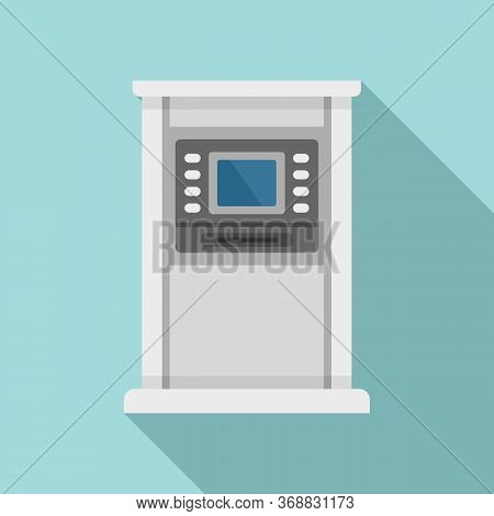 Atm Monitor Screen Icon. Flat Illustration Of Atm Monitor Screen Vector Icon For Web Design