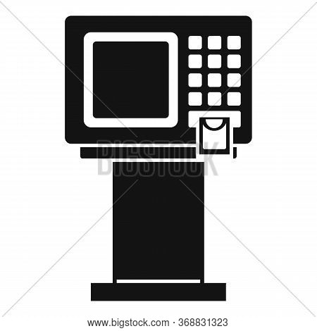 Bank Atm Machine Icon. Simple Illustration Of Bank Atm Machine Vector Icon For Web Design Isolated O