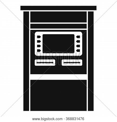 Atm Terminal Icon. Simple Illustration Of Atm Terminal Vector Icon For Web Design Isolated On White