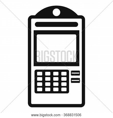 Atm Online Pay Icon. Simple Illustration Of Atm Online Pay Vector Icon For Web Design Isolated On Wh