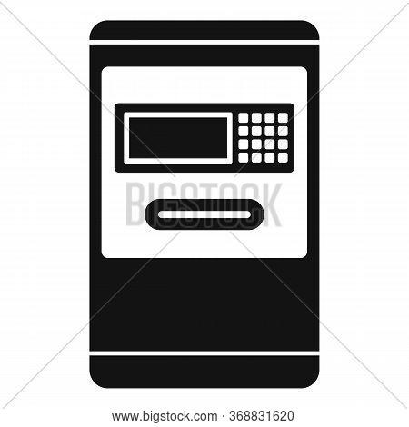 Airport Atm Machine Icon. Simple Illustration Of Airport Atm Machine Vector Icon For Web Design Isol