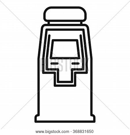 Bank Atm Machine Icon. Outline Bank Atm Machine Vector Icon For Web Design Isolated On White Backgro