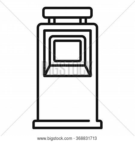 Hand Cash Atm Icon. Outline Hand Cash Atm Vector Icon For Web Design Isolated On White Background