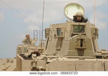 Armored Personal Vehicle Heading To Gaza