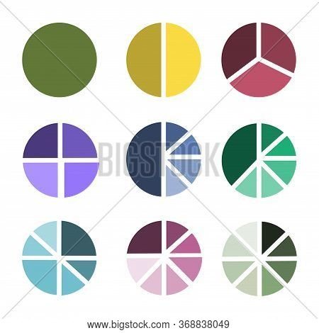 Circles Of Different Colors Broken Into Sectors