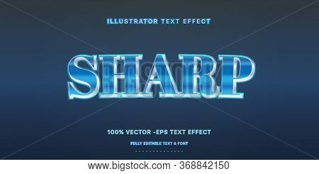 Editable Text Effect - Dark Blue  Illustrator Text Style