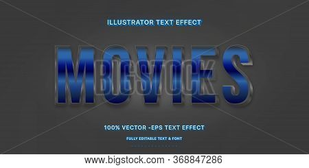 Editable Text Effect - Movie Illustrator Text Style