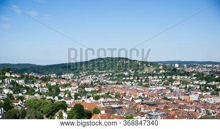 Panoramic View Of Stuttgart Germany City Cityview