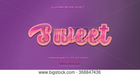 Editable Text Effect - Sweet Illustrator  Text Style
