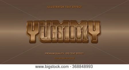 Editable Text Effect - Yummy Illustrator Text Style