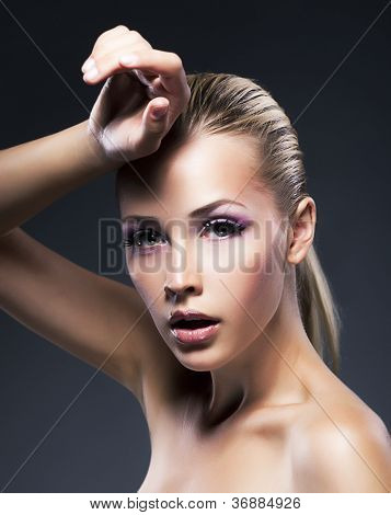 Beauty Young Blonde Woman - Clean Fresh Face