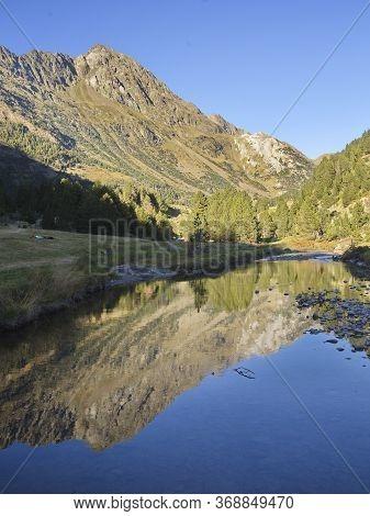 Reflection Of The Tuca Salbaguardia Peak (2738 M)
