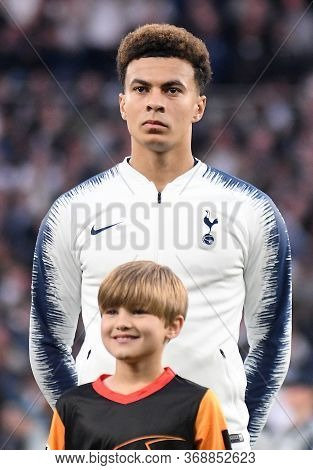 London, England - April 30, 2019: Dele Alli Of Tottenham Pictured Prior To He First Leg Of The 2018/