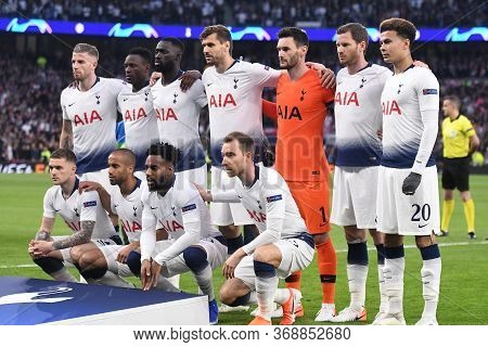 London, England - April 30, 2019: Tottenham Starting Players Posing For The Official Team Photo Prio