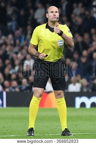 London, England - April 30, 2019: Spanish Fifa Referee Antonio Mateu Lahoz Pictured During The First