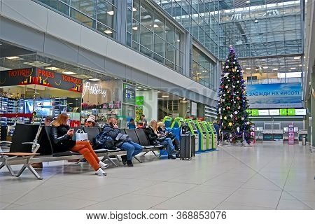 Kiev, Ukraine - Jan 16, 2020: Kyiv International Airport (zhuliany) Named After Igor Sikorsky (forme