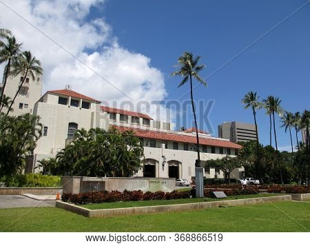 Honolulu - April 3, 2012: Honolulu Hale (originally Called The Honolulu Municipal Building), Located