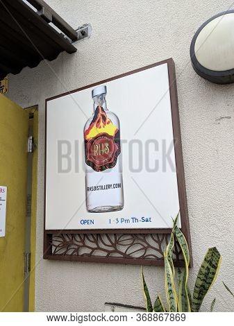 Honolulu - April 14, 2018: Rhs Distillery Sign At Entrance.  Rhs Llc Was Licensed From 2016 As An Al