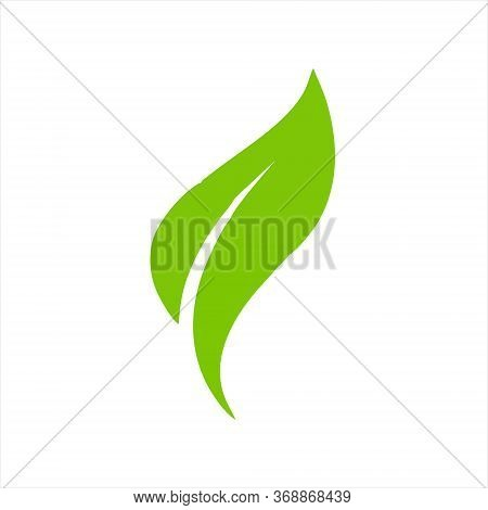 Green Power Energy Logo Design Element, Thunder Leaf Logo, Leaves Icon Vector, Creative Green Leaf L