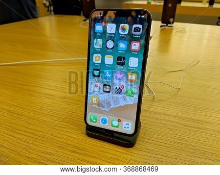 Honolulu - February 7, 2018: Iphone On Display At The Apple Retail Store In Honolulu At The Kahala M