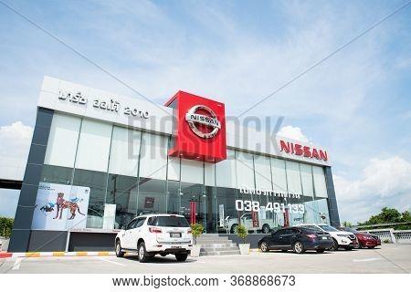 Laemchabang-chonburi, Thailand - May 09, 2020. Official Dealership Showroom For Car And Suv Of Nissa